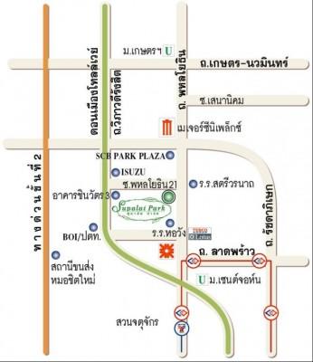 แผนที่ศุภาลัยปาร์ค พหลโยธิน21